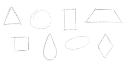 Lição 2 de desenho - formas simples