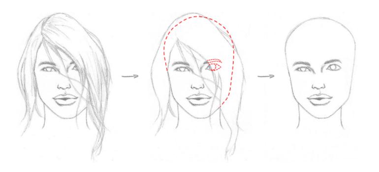 Erros mais comuns ao desenhar - exemplo 4 - mostrando o problema