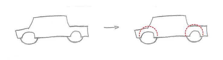 Erros mais comuns ao desenhar - exemplo 6 - mostrando o erro