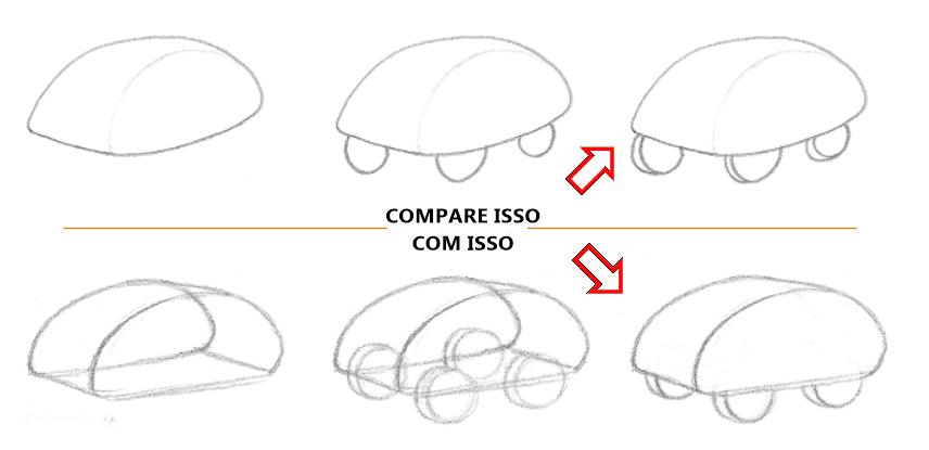 Lição 3 Indo do 2D para o 3D - USANDO LINHAS DE CONTORNO - CARRINHO