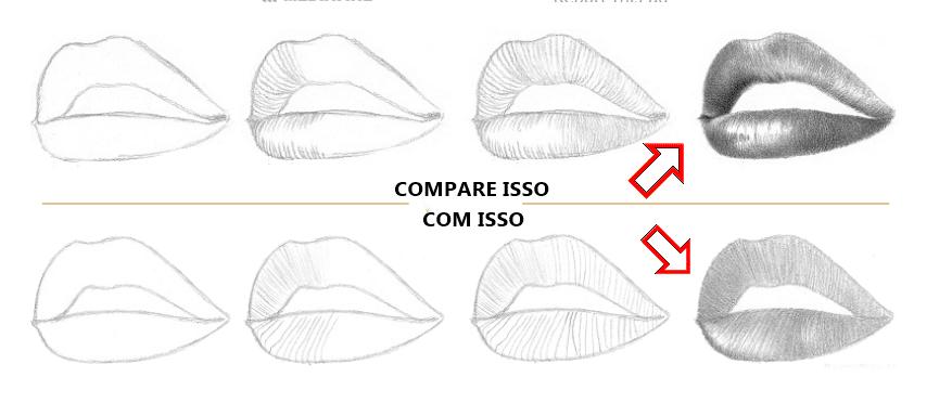 Lição 3 Indo do 2D para o 3D - USANDO LINHAS DE CONTORNO - boca carnuda