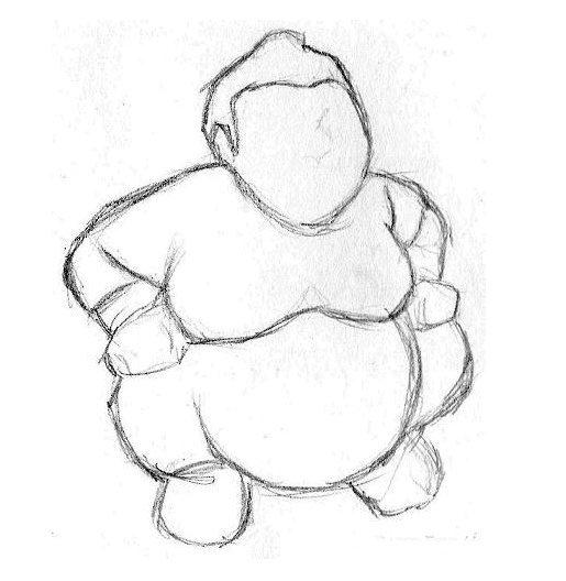 esboço do desenho do sumô